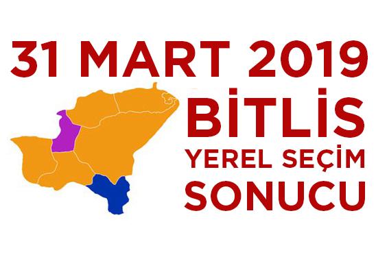 31 Mart 2019 Bitlis Seçim Sonucu
