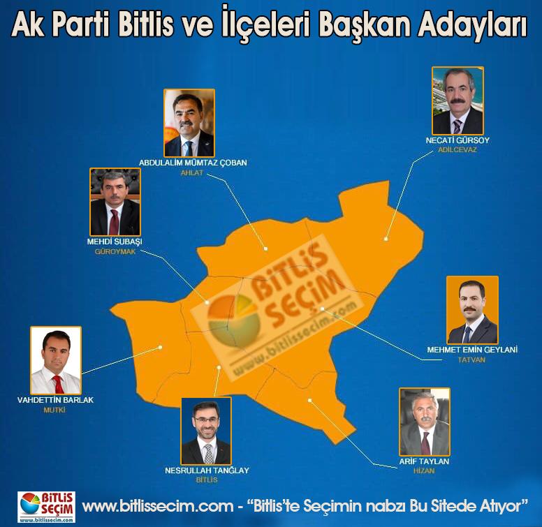 AK Parti Bitlis ve İlçeleri Başkan adayları belli oldu