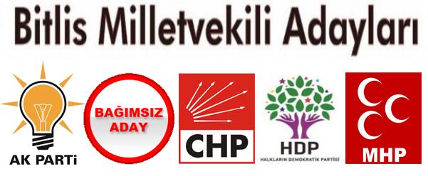 Bitlis Milletvekili Adayları Belli Oldu