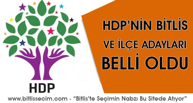 HDP, Bitlis ve İlçe Belediye Başkan Adayları belli oldu.